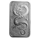 The Perth Mint 1 oz Silver Rectangular Dragon Coins