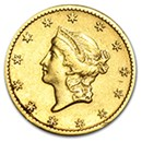 $1 Gold Coins (Type 1, 2 & 3) (1849-1889)