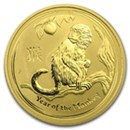 Year of the Monkey 1 oz & Larger Gold