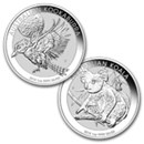 The Perth Mint Silver Kookaburra and Koala Coins