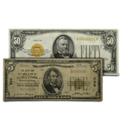 U.S. Currency - Small Type