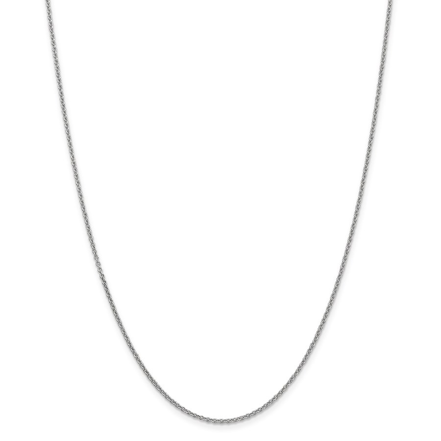 14k White Gold 1.67 mm Cable Chain - 18 in.