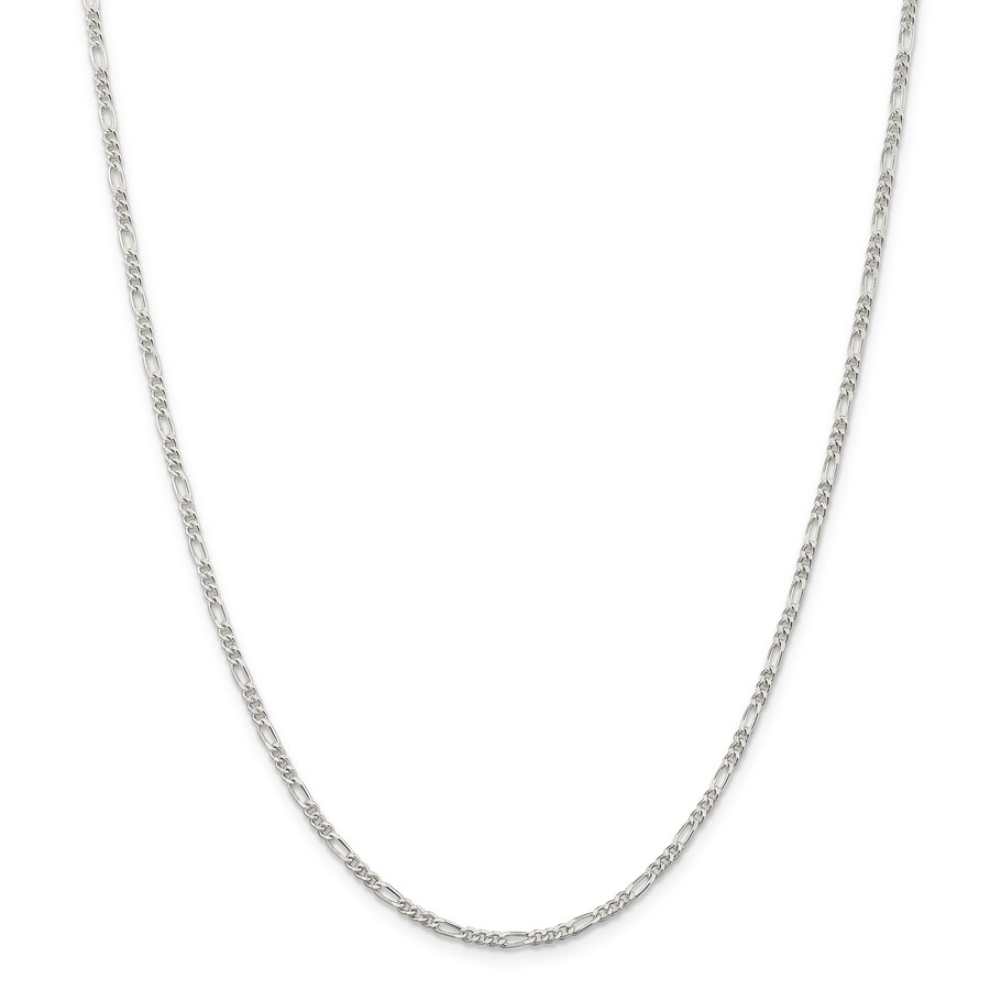 Sterling Silver 2.25 mm Figaro Chain - 24 in.