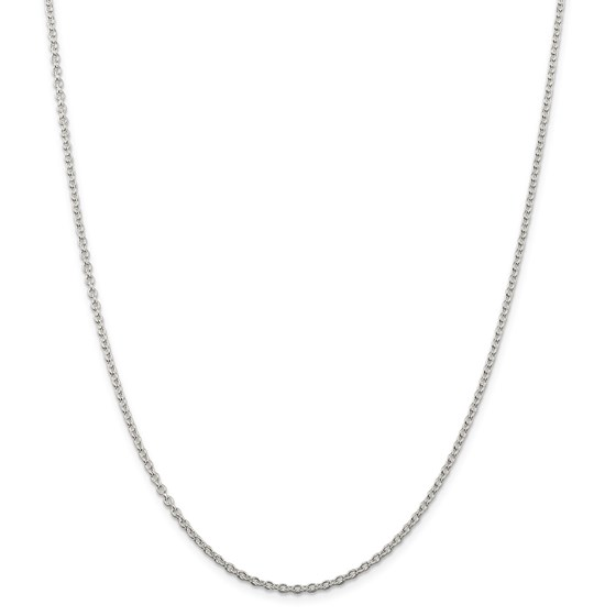 Sterling Silver 2.25 mm Cable Chain - 24 in.