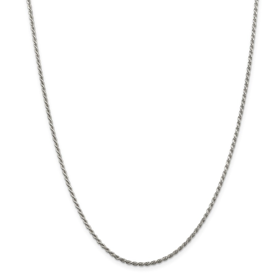 Sterling Silver 1.75 mm Diamond Cut Rope Chain - 22 in.