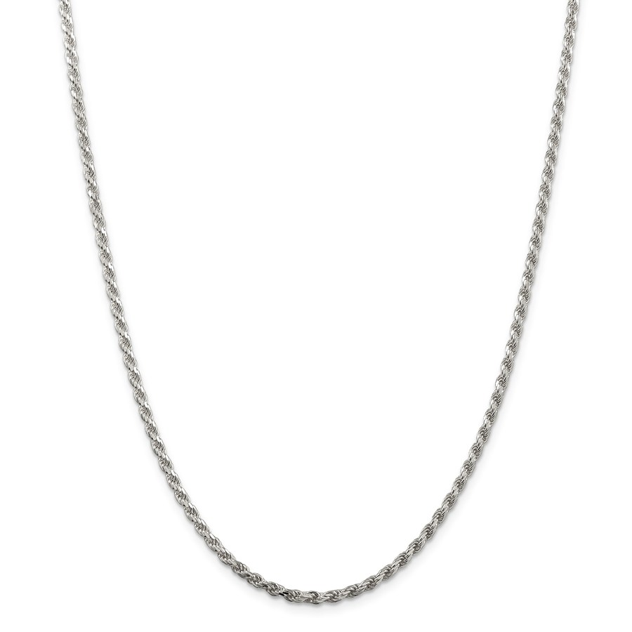 Sterling Silver 2.75 mm Diamond Cut Rope Chain - 24 in.