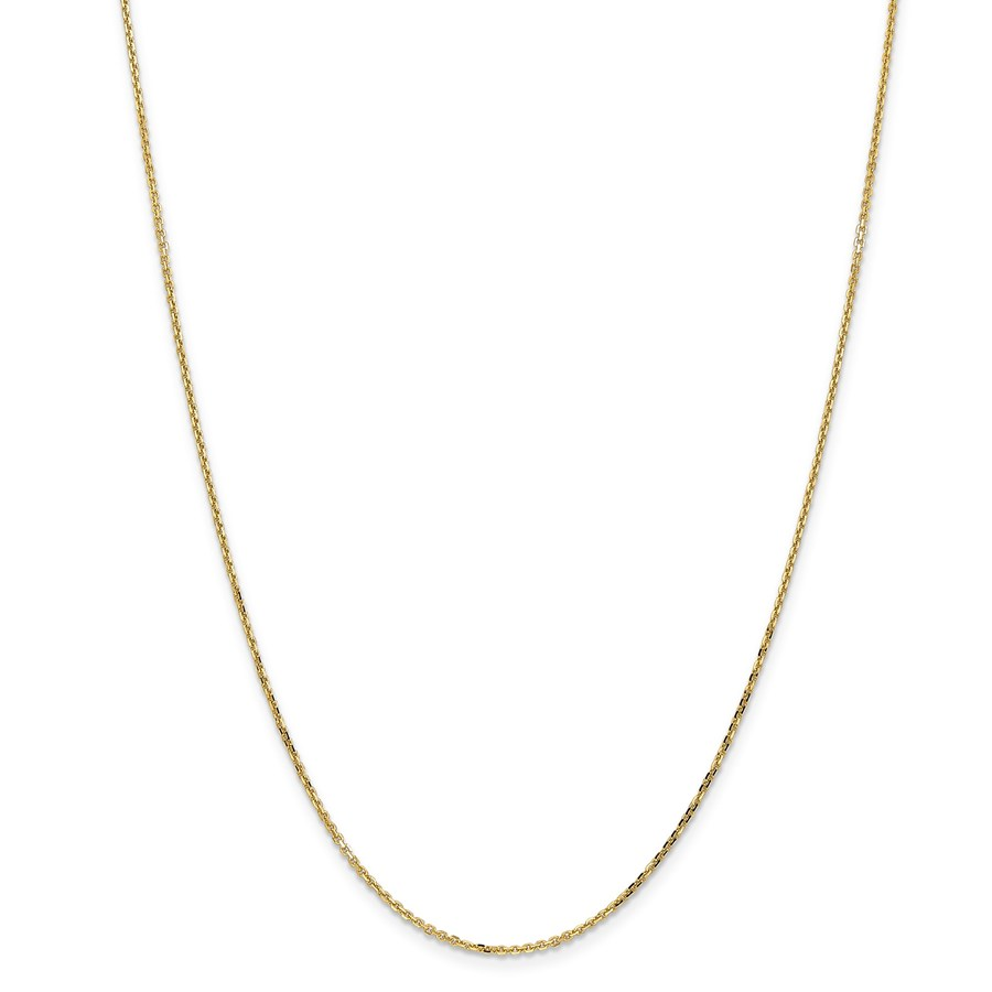 14k Gold 1.4 mm Diamond Cut Cable Chain - 20 in.