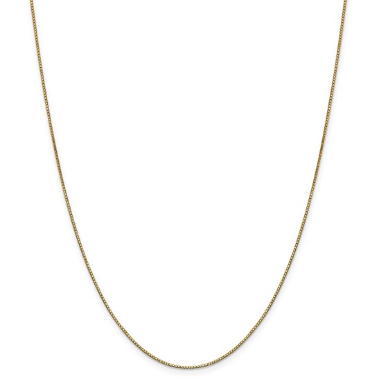 14k Gold .9 mm Box Chain - 24 in.