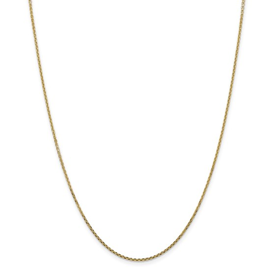 14k Gold 1.3 mm Solid Diamond Cut Cable Chain - 20 in.