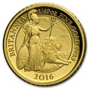 2016 Great Britain 1/40 oz Proof Gold Britannia