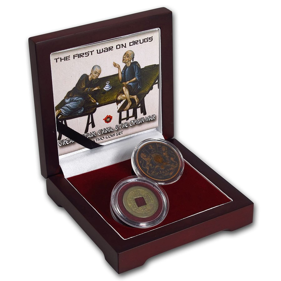 British India/China 2-Coin Set the First War on Drugs
