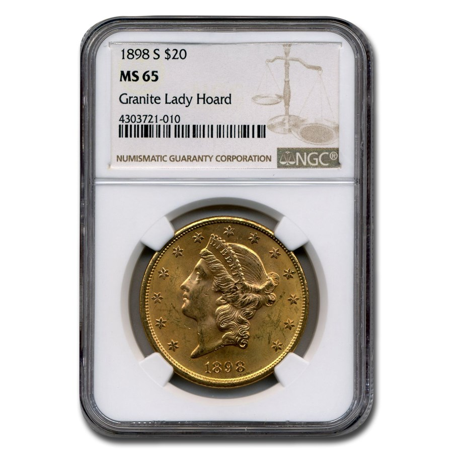 1898-S $20 Liberty Gold Double Eagle MS-65 NGC