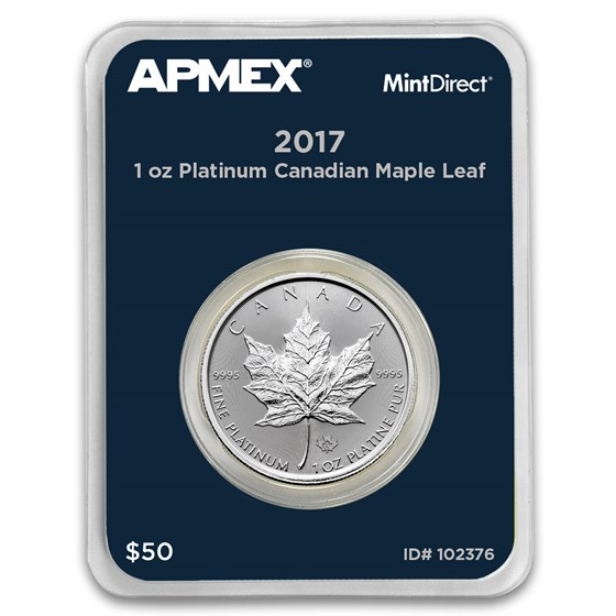 2017 Canada 1 oz Platinum Maple Leaf (MintDirect® Single)