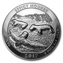 2017 5 oz Silver ATB Effigy Mounds National Monument, Iowa