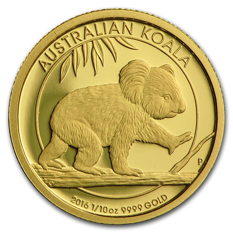 2016 Australia 1/10 oz Gold Koala Proof