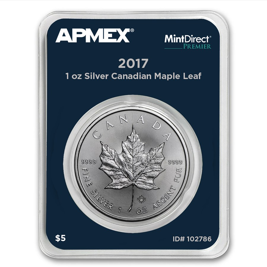 2017 Canada 1 oz Silver Maple Leaf (MintDirect® Premier Single)