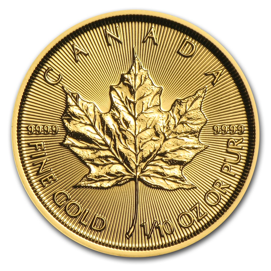 2017 Canada 1/10 oz Gold Maple Leaf BU