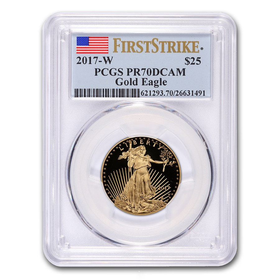 2017-W 1/2 oz Proof Gold American Eagle PR-70 PCGS (FS)