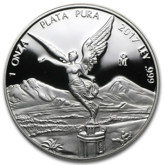 2017 Mexico 1 oz Silver Libertad Proof (In Capsule)