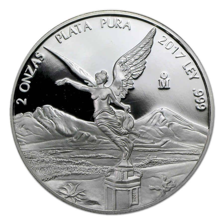 2017 Mexico 2 oz Silver Libertad Proof (In Capsule)