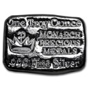 1 oz Hand Poured Silver Bar - MPM