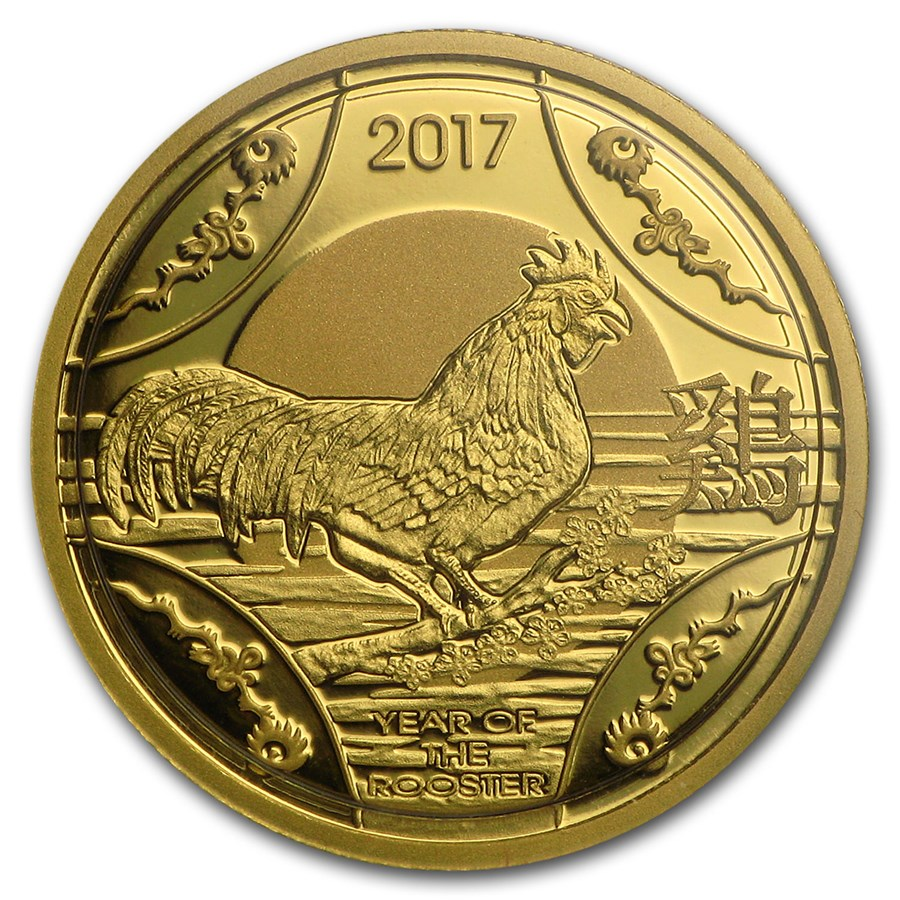 2017 Australia 1/10 oz Proof Gold Year of the Rooster