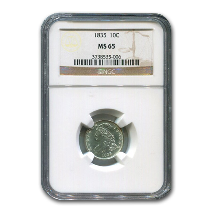 1835 Capped Bust Dime MS-65 NGC