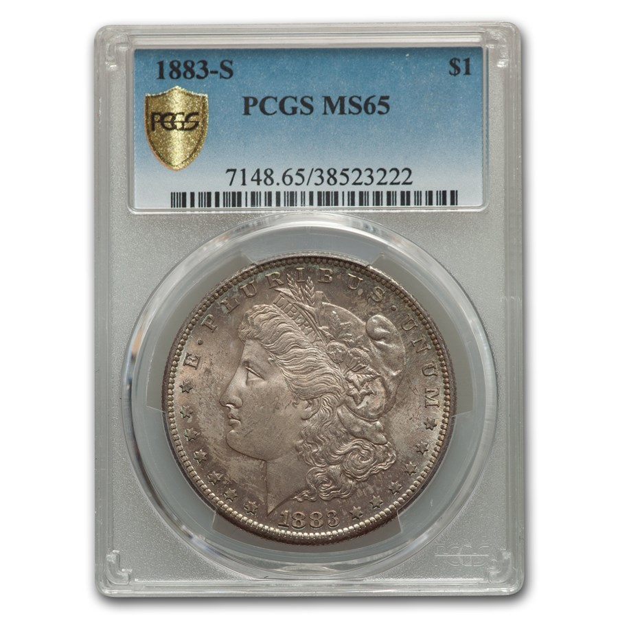 1883-S Morgan Dollar MS-65 PCGS
