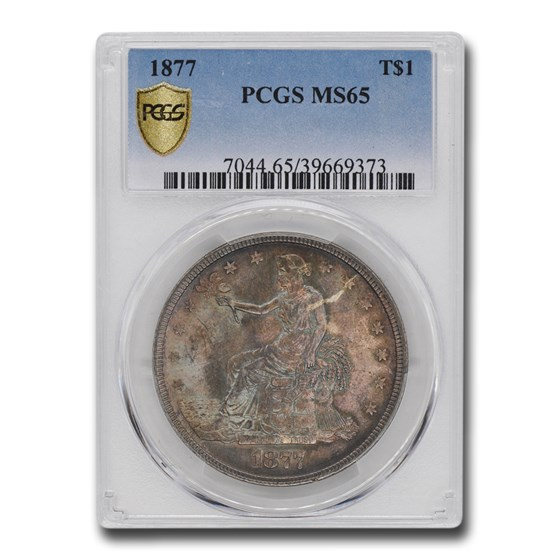 1877 Trade Dollar MS-65 PCGS CAC
