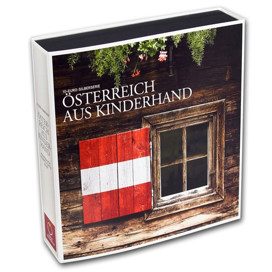OGP Box - 2012-2016 Austria 9-Coin Silver Piece by Piece Case