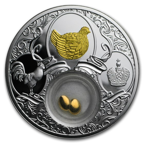 2017 Niue Silver Year of the Rooster (Golden Lucky Hen)