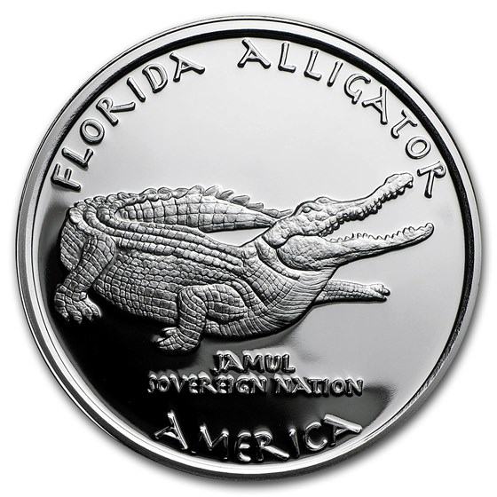 2016 1 oz Silver Proof State Dollars Florida Seminole