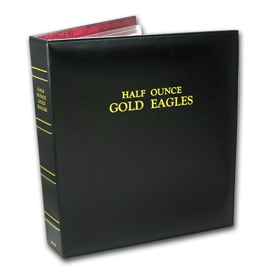 CAPS Album for 1/2 oz Gold American Eagle Date Set (1986-Current)