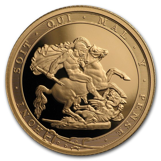 2017 Great Britain Gold Quarter Sovereign Proof (w/Box & COA)