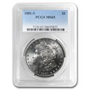1881-S Morgan Dollar MS-65 PCGS