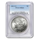 1881-CC Morgan Dollar MS-64 PCGS