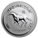 2002 Australia 1 oz Silver Year of the Horse BU (Series I)