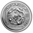 2000 Australia 1 oz Silver Year of the Dragon BU (Series I)