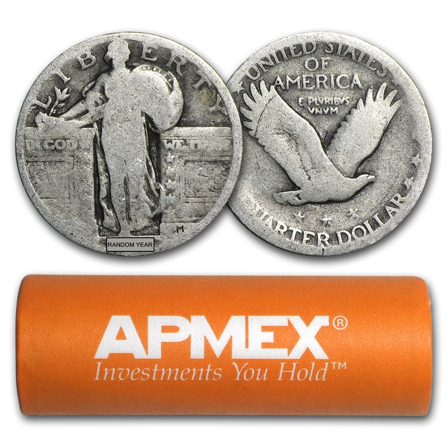 Roll of 40 $10 Face 90/% Silver Standing Liberty Quarters Full Dates