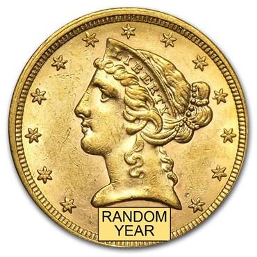 Liberty $5 Gold Coin (1839-1908)
