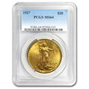 1927 $20 Saint-Gaudens Gold Double Eagle MS-64 PCGS