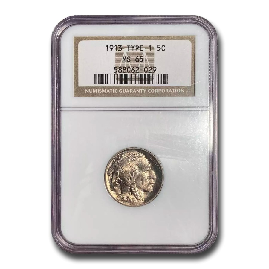 1913 Buffalo Nickel Type-I MS-65 NGC