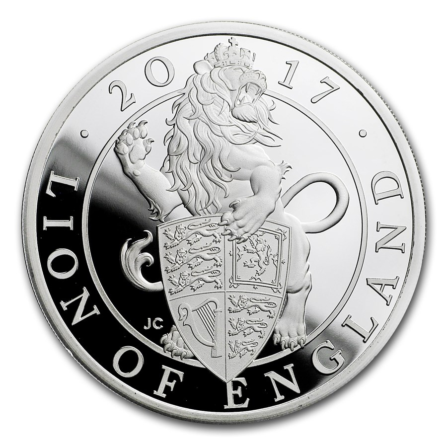 2017 GB Prf 1 oz Silver Queen's Beasts Lion (Box & COA)