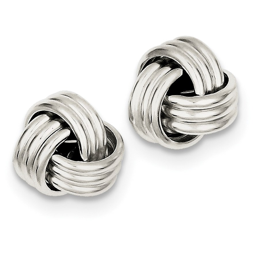 Sterling Silver Twisted Knot Post Earrings
