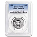 2002 1/2 oz Platinum American Eagle MS-70 PCGS