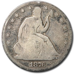 1876 Liberty Seated Half Dollar Good