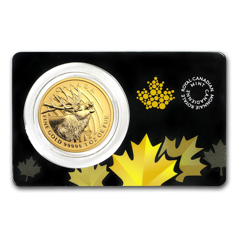 2017 Canada 1 oz Gold Elk .99999 BU (Assay Card)