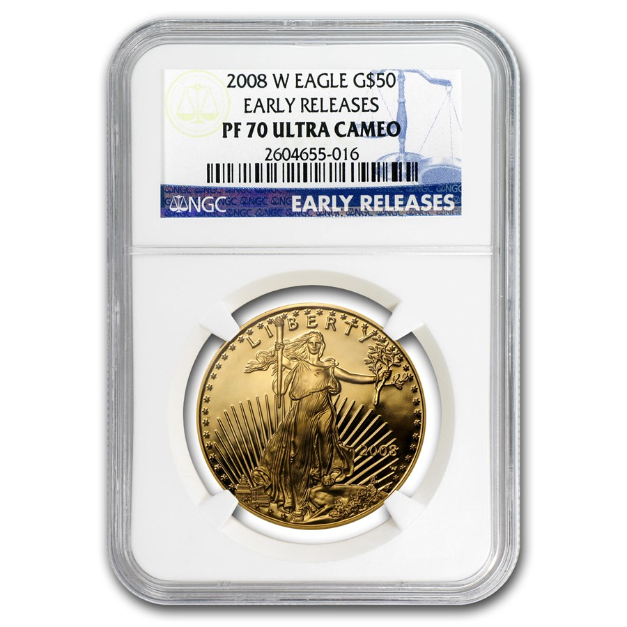 2008-W 1 oz Proof Gold American Eagle PF-70 NGC (ER)