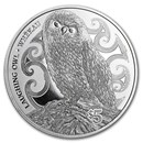 2017 New Zealand 1 oz Silver $5 Annual Coin: Laughing Owl