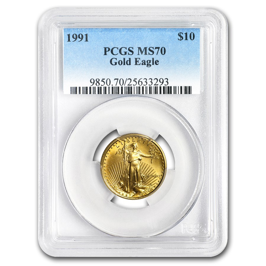 1991 1/4 oz Gold American Eagle MS-70 PCGS